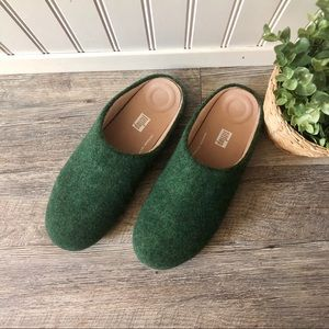 FitFlop | Green Wool Chrissie Slippers